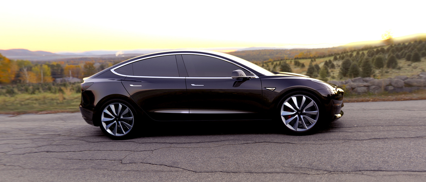 Tesla 3 header wide